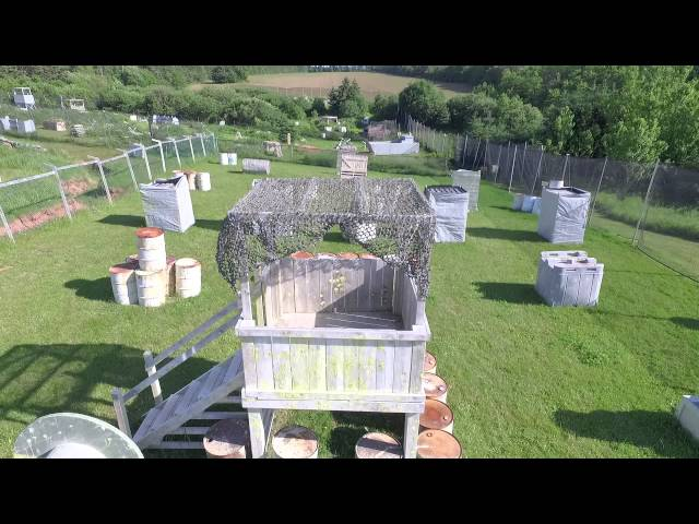 Fuel Depot Field Drone Flyover - Crossfire PEI Adventure Paintball
