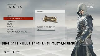 Assassin's Creed Syndicate Weapons Showcase - All Weapons Gauntlets Firearms + (UPGRADED)