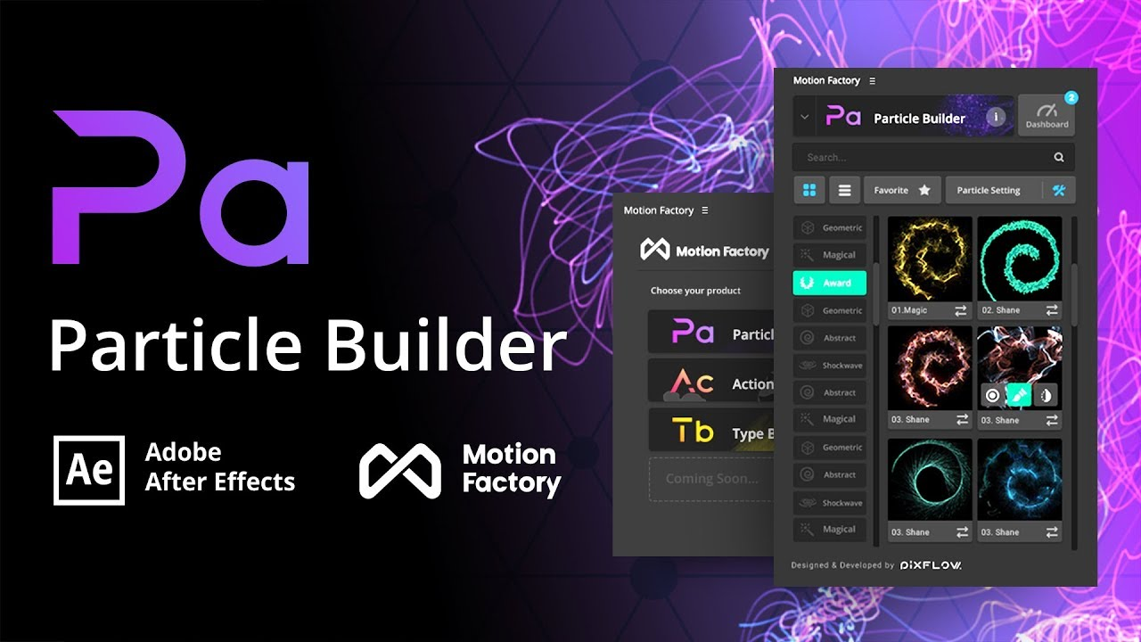 particle builder plugin free after effects motion factory toolkit