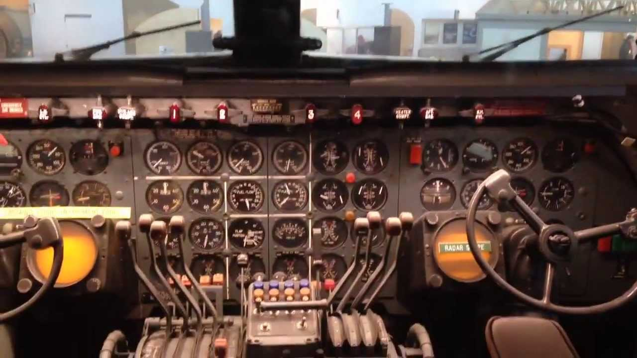American Airlines Douglas Dc 7 Cockpit Youtube