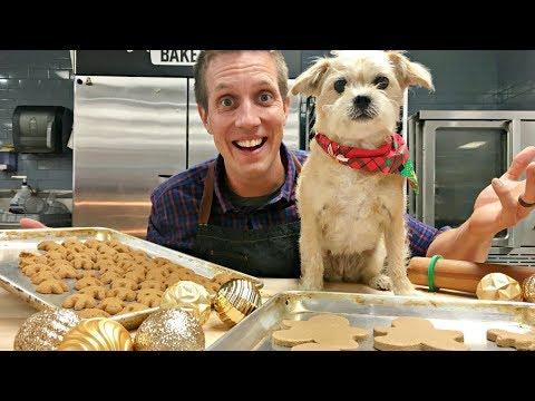 Baking Gingerbread People Dog ...
