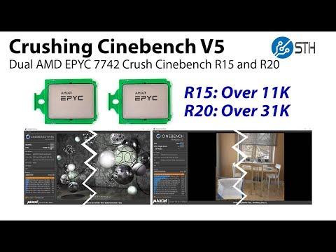 Crushing Cinebench V5 AMD EPYC 7742 World Record Edition