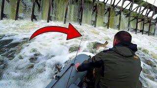 ОГРОМНЫЙ САЗАН УПАЛ С ВОДОПАДА В СНАСТИ МЕСТНЫХ Пришлось помогать Рыбалка на спиннинг ЩУКА СОМ