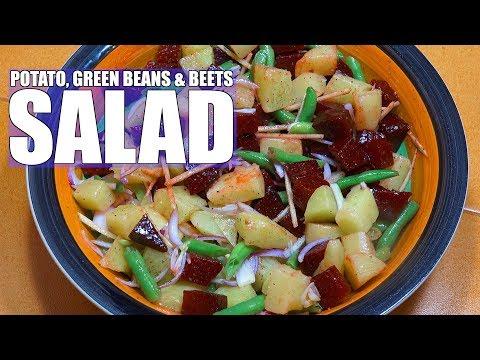 Potato Beets Green Bean Salad - Beetroot Potato Salad - Easy Salad Recipes - Vegan Recipes