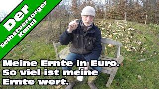 So viel ist meine Ernte Wert. Selbstversorgung in Euro.