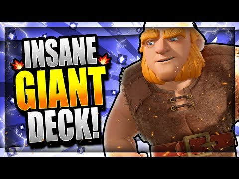 THIS GIANT DECK DESTROYS BAIT META!! GIANT MADNESS! Clash Royale Giant Deck 2018