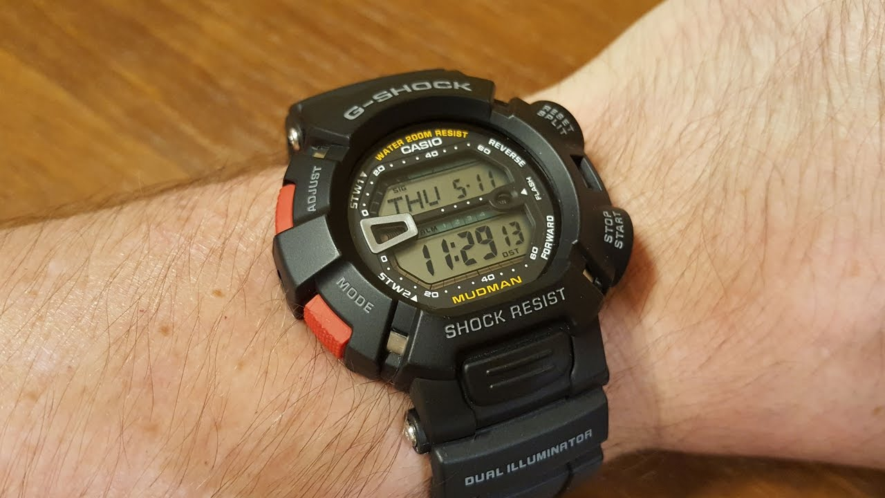 8687f6b5a53bd8 Casio G-Shock G-9000-1VER MUDMAN - hands on, try-on and comparison [EN]