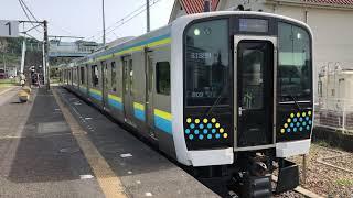 E131系0番台マリR09編成岩井発車
