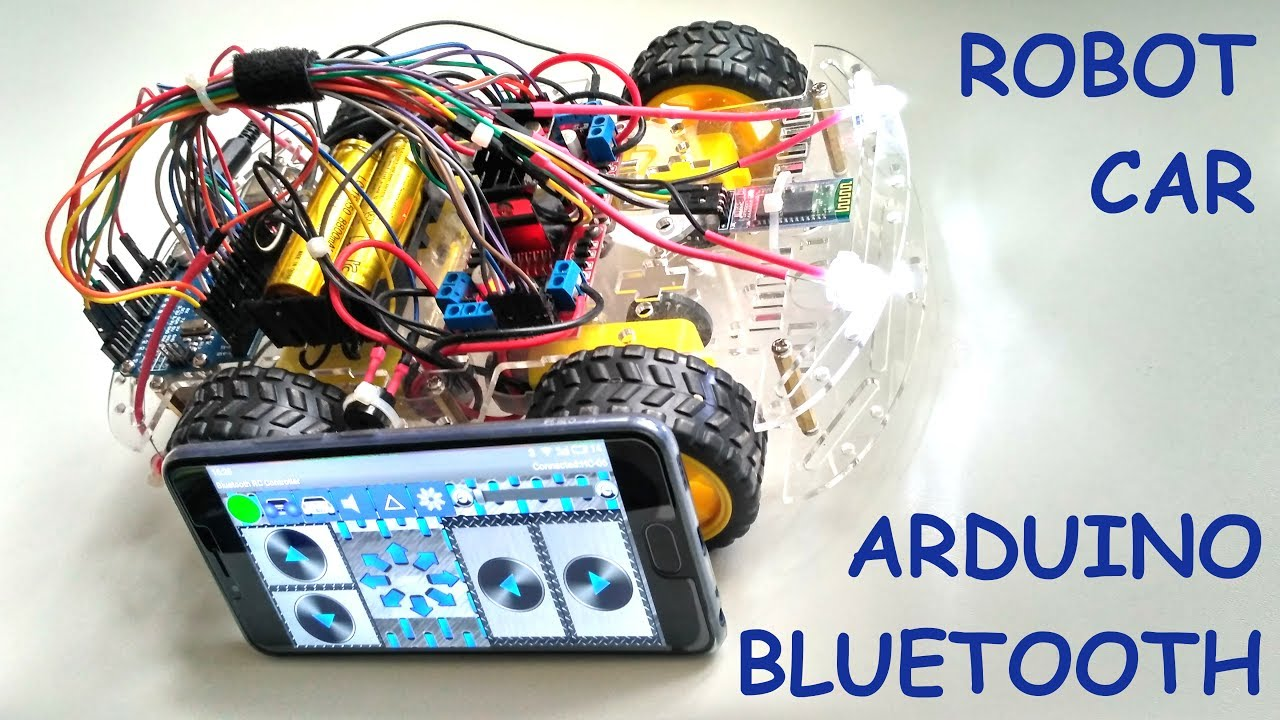Smartphone Controlled Arduino 4wd Robot Car Bluetooth L293d Secret Motor Driver Electronic Kit 3
