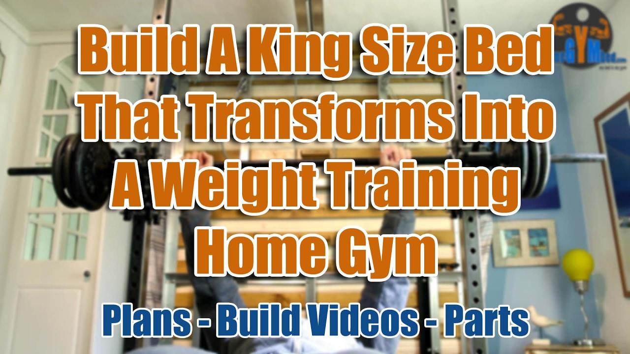 Diy home gym  Compact Home Gym - DIY Space Saving Exercise Equipment - YouTube