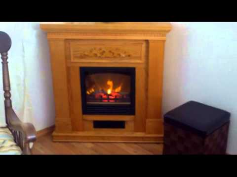 Electric Fireplace Oak, Walmart - YouTube
