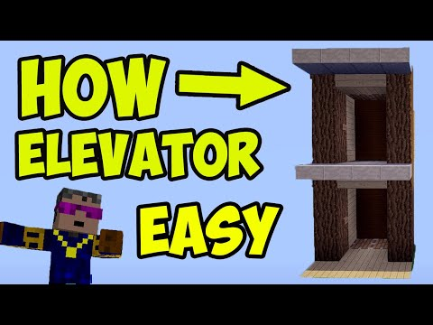 how-to-make-elevator-in-minecraft-(2020)-(easy-and-cheap)