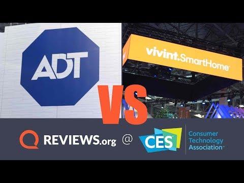 ADT vs. VIVINT in New Home Security Tech Battle! | CES 2018