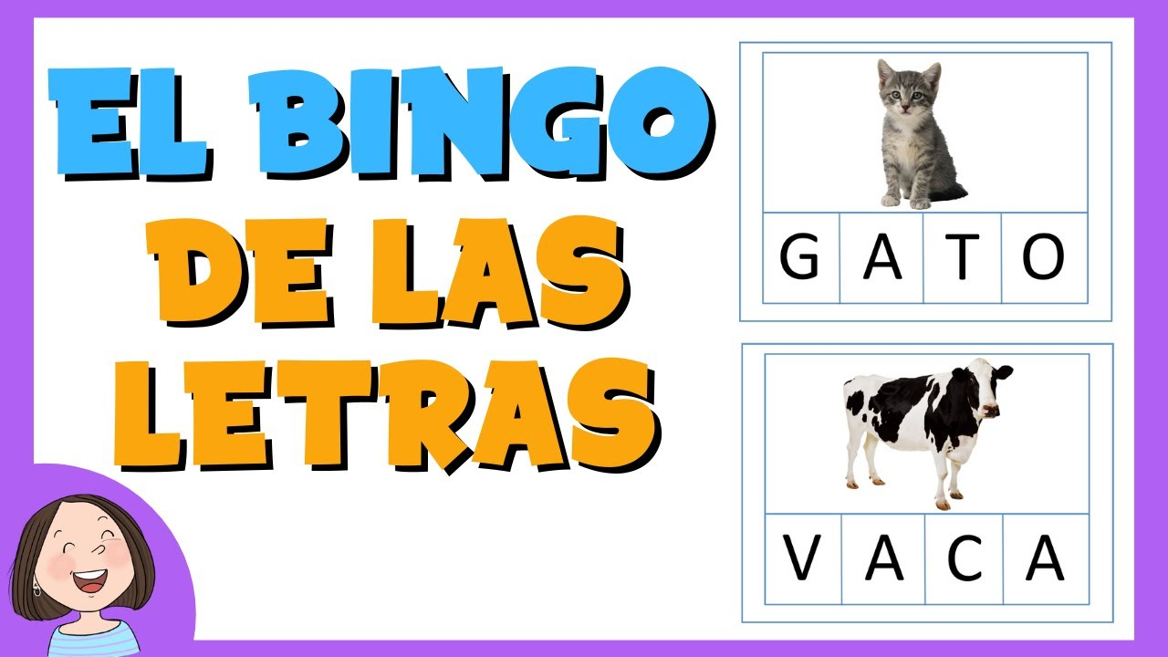 El bingo de las letras | Juego de lectoescritura para niños.