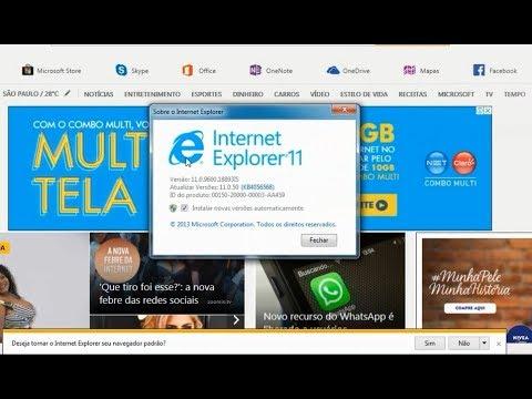 Como Atualizar o internet Explorer 11 no windows 7