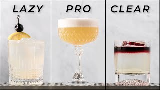 WHISKEY SOUR 3 WĄYS - Lazy, Pro, Clear   How to make a Whiskey sour cocktail