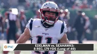 Julian Edelman Sets Career-High Mark For Receiving Yards