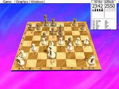 Me, Playing Chess With My Computer And Won! A Great Game!
