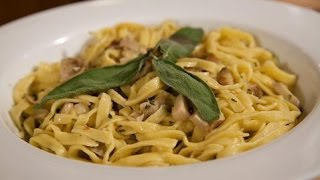 Homemade Tagliatelle with Porcini Mushrooms Recipe by Rossella Rago - Cooking with Nonna