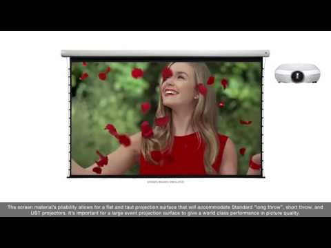 Tension Pro Series Large-Venue Motorized Projection Screen Product Video