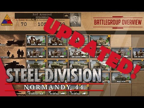 UPDATED! 3rd Armored (Spearhead) - Steel Division: Normandy 44 Battlegroup Overview #1