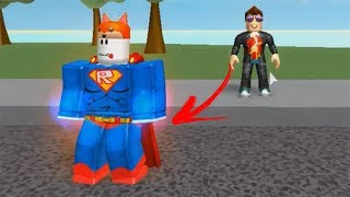 ROBLOX: THE OLD MAN BECAME A SUPERHERO APPRENTICE! -Play Old man