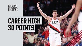 Meyers Leonard (Career High 30 points) Highlights vs. Golden State Warriors