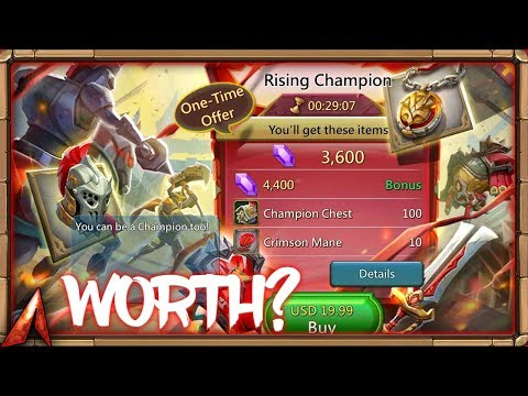 $20 Champion Pack Worth It?! Lords Mobile