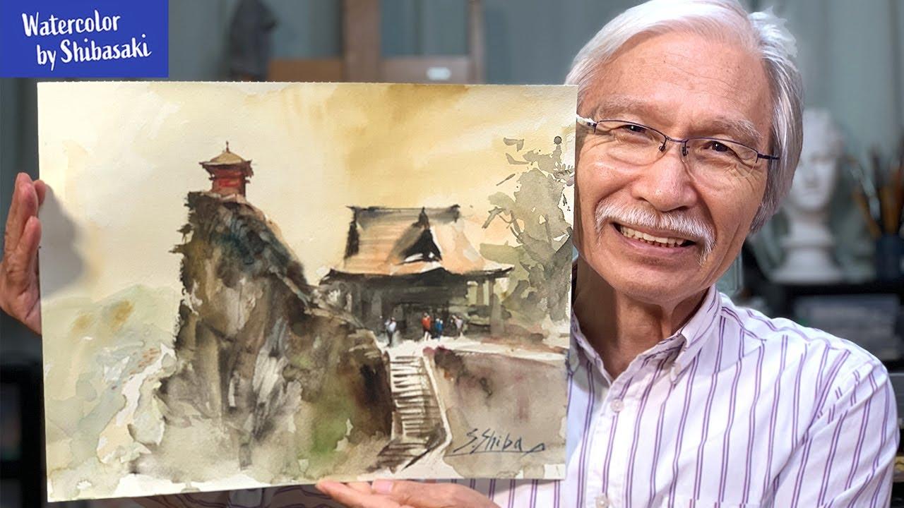 水彩画 柴崎 YouTube登録者40万人の人気水彩画講師・柴崎春通さん(71歳)