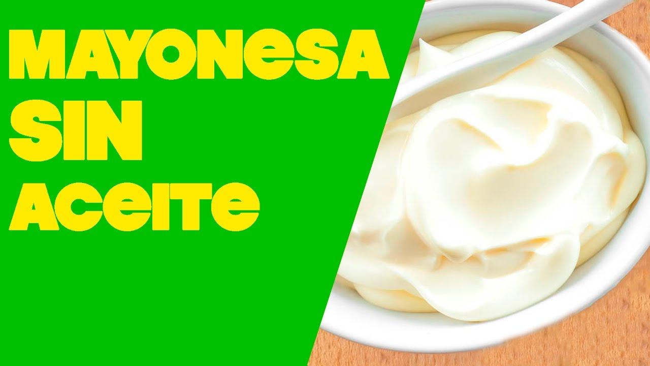 receta mayonesa con leche sin aceite