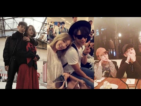 SHINEE MINHO WITH HIS GIRL FRIENDS CUTE MOMENTS