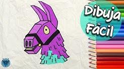 como dibujar la llama de fortnite facil paso a paso dibustrador art duration 4 11 - dibujos de la llama dj de fortnite para colorear