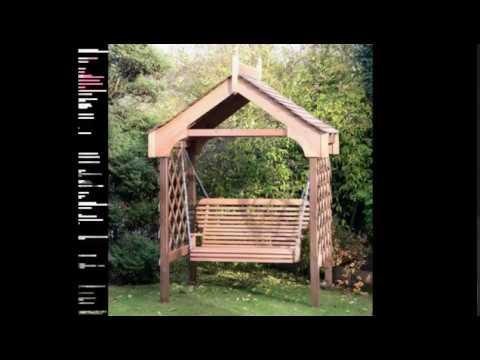 Качели из дерева: идеи для дачи и дома