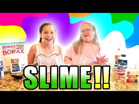Googly Eye Perfect Pink Slime! Sarah Grace & Olivia Haschak