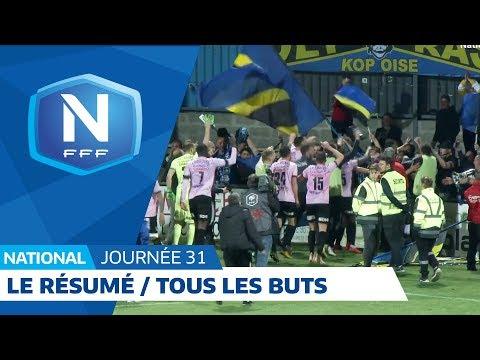 Le résumé de la 31e journée : tous les buts I National FFF 2018-2019