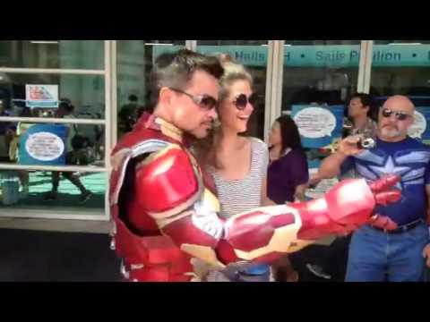 Tony Stark Iron Man At Comic Con #SDCC