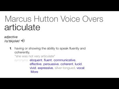 Marcus Hutton Voice Overs medical narration demo