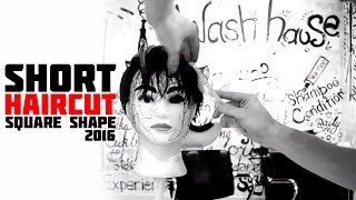 new trend haircut 2016 / square shape / tutorial/ how to