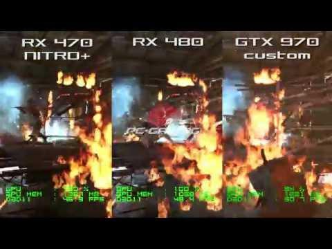 RX 470 NITRO+ vs RX 480 vs GTX 970 - Metro Last Light 1080p Frame Rate Test