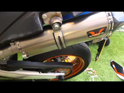 Ktm smc 690 r wings exhaust with baffle