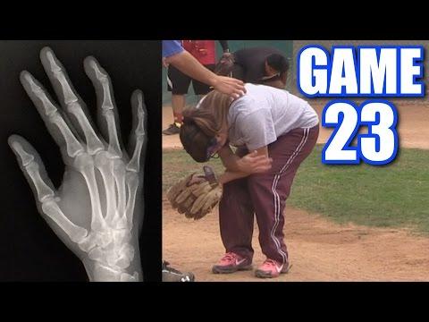 CIARA'S BOYFRIEND BREAKS HER FINGER!   On-Season Softball Series   Game 23