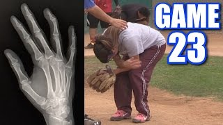 CIARA'S BOYFRIEND BREAKS HER FINGER! | On-Season Softball Series | Game 23