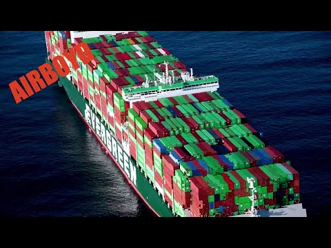 Coast Guard Flyover Record Shipping Jam • Port of Los Angeles - Long Beach