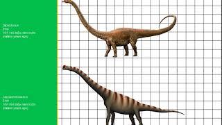Size comparison of dinosaur| So sánh kích thước nhóm khủng long sauropod