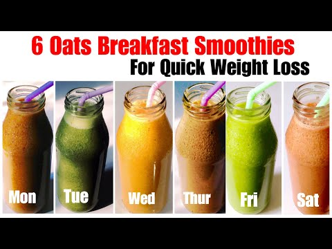 6 Healthy Oats Smoothie Recipe | How To Make Oatmeal Smoothies | Weight Loss Recipe | In Hindi