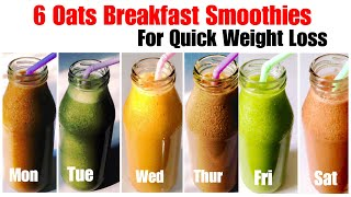 Are you up for some healthy wholesome breakfast smoothies. sharing with today 6 simple yet delicious oats smoothie. they highly nutritious, satisfyin...