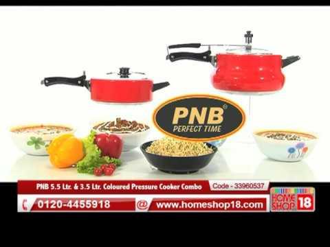 d7e9d4286e9 HomeShop.com PNB 5.5 Ltr.   3.5 Ltr. Coloured Pressure Cooker Combo ...