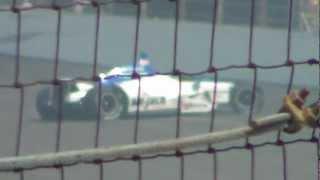Indy 500 2012 - Takuma Sato's Lap 199 Crash!! (HD)