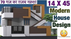 14 X 45 , House Design , Plan Map , 1 BHK , 3D Video , Naksha plan , Vastu , Car Parking , Lawn