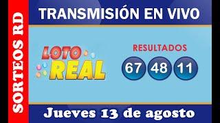 Lotería Real en VIVO / jueves 13 de agosto